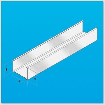 Profil cloison c 050 50 vertical 0 6 mm for Cloison alveolaire 50 mm